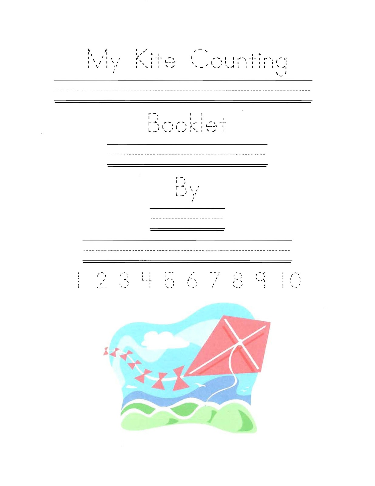 Classroom Freebies My Kite Counting Booklet