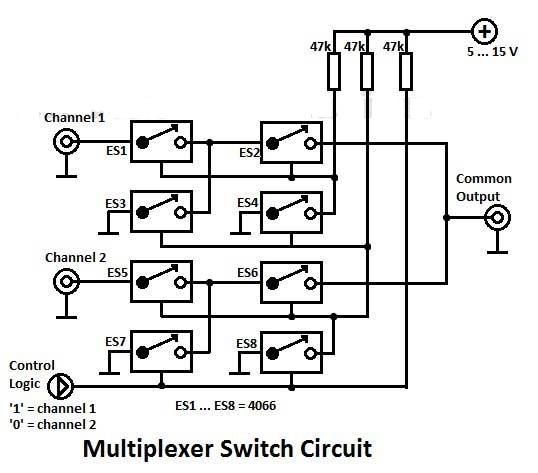 multiplexer switch circuit diagram