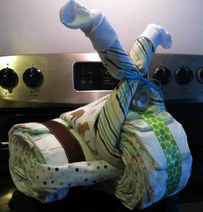 Its My Life DIY Diaper Motorcycle