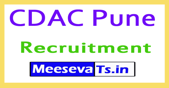 Centre for Development of Advanced Computing CDAC Pune Recruitment