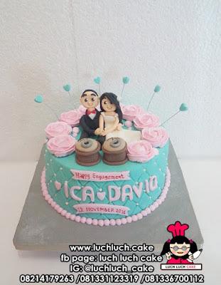 Kue Tart Hantaran Pertunangan - Engagament Fondant Cake