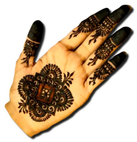 Front hand Mehndi Designs for Parties