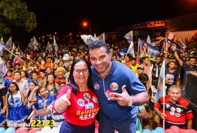 Belezinha e Josimar do Maranhãozinho param Chapadinha, com mega carreata da vitória; Confira as fotos