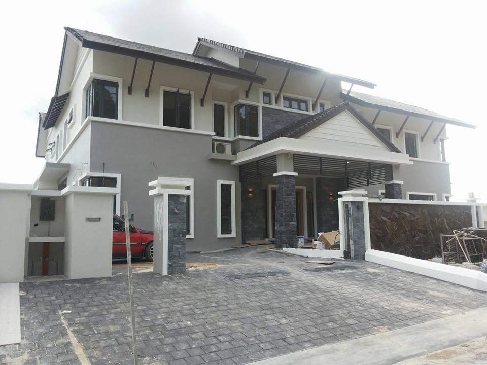 Cat Luar Rumah Warna Kelabu Desainrumahid