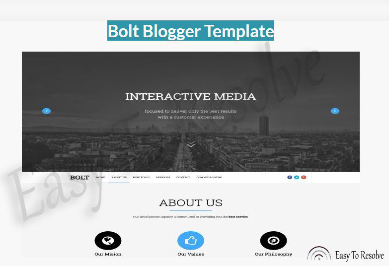 Bolt Responsive Blogger Template Easy To Resolve - interactive website template