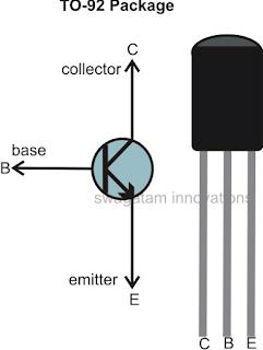 NPN transistor BC547, BC548, BC546 pinouts