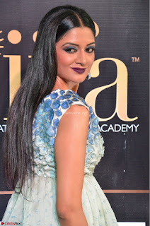 Vimala Raman in a Deep Neck White Shaded Sleeveless Gown ~  Exclusive 37.JPG