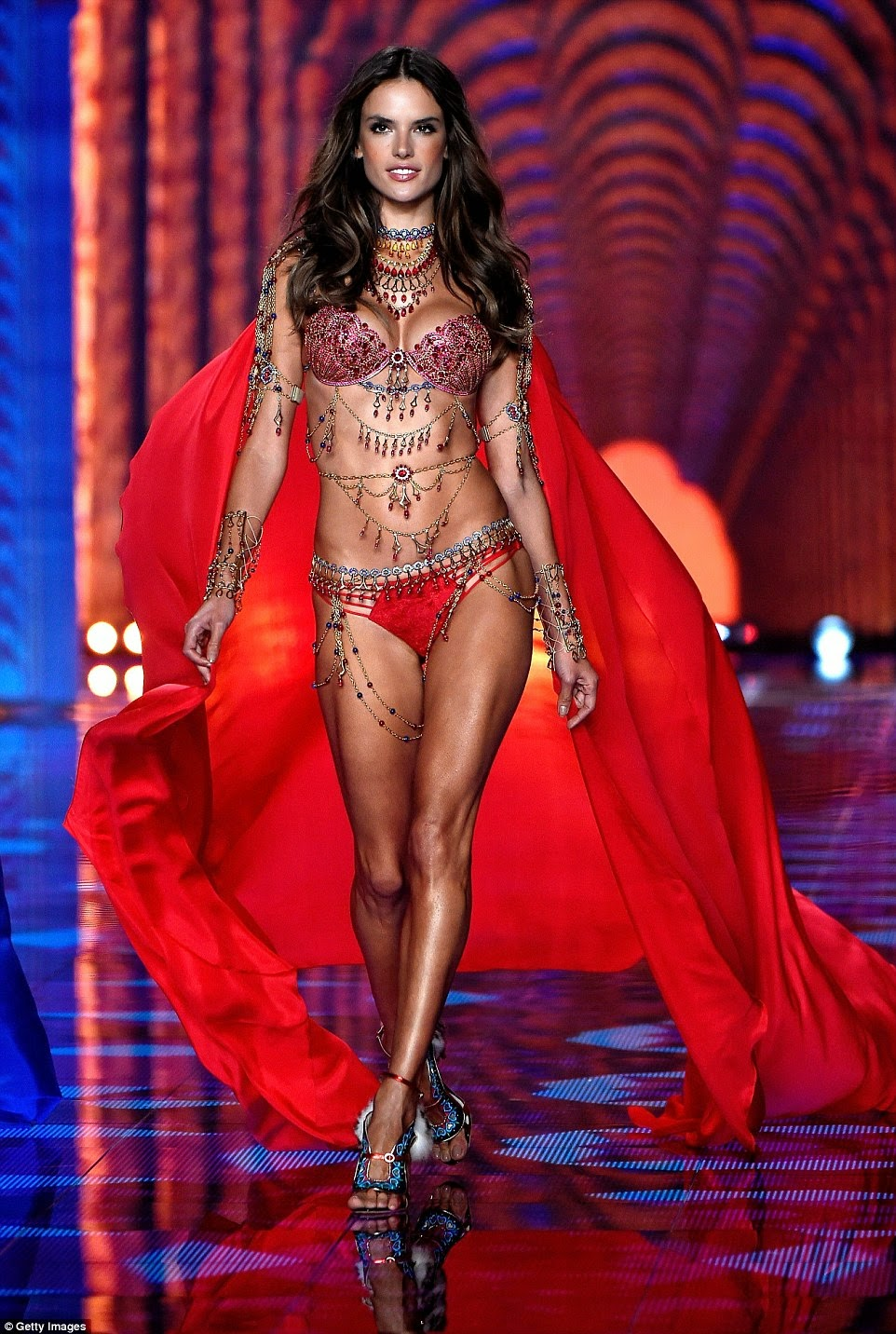 56ba4a945c ... Fashion Show 2014  Stunning Models Struts Their Stuff On The Greatest  Catwalk On Earth! +  2m Dream Angels Fantasy Bras. Angels Alessandra  Ambrosio and ...