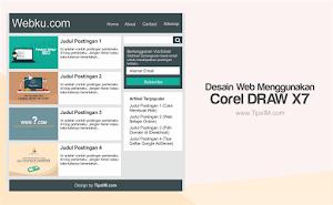 Tutorial Desain Web Menggunakan Corel Draw X7