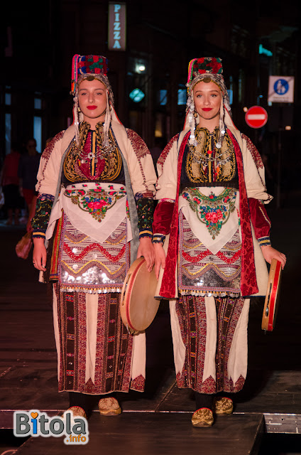 Macedonian national costumes - Ethnic area villages under Suva Gora