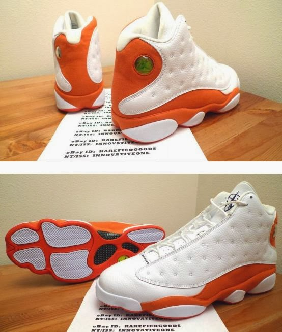 """big sale 9c79a 2d608 Here is a detailed look at a pair of Air Jordan 13 XIII """"Bobcats"""" Gerald  Wallace PE Sneakers spotted on Ebay Here in a size 15, these are too sweet!"""