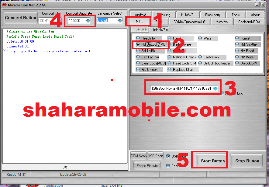 Nokia 215 rm-1110 Rest User Code / Unlock Without box