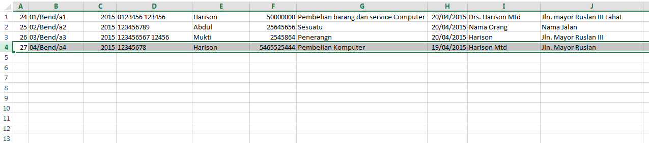 Tutorial Vb.Net : Export Database ke Microsoft Excel