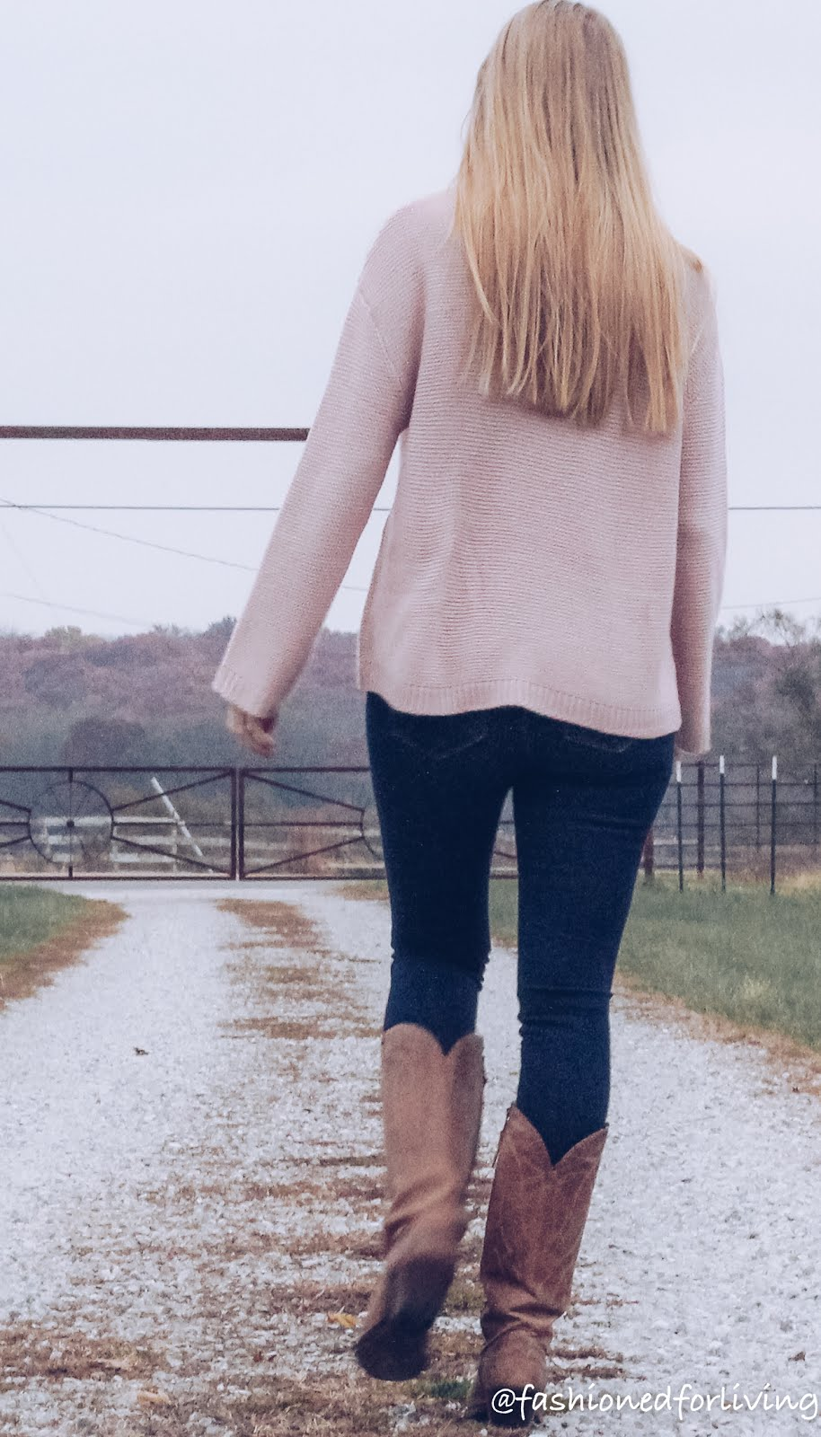jeans with sweater and boots