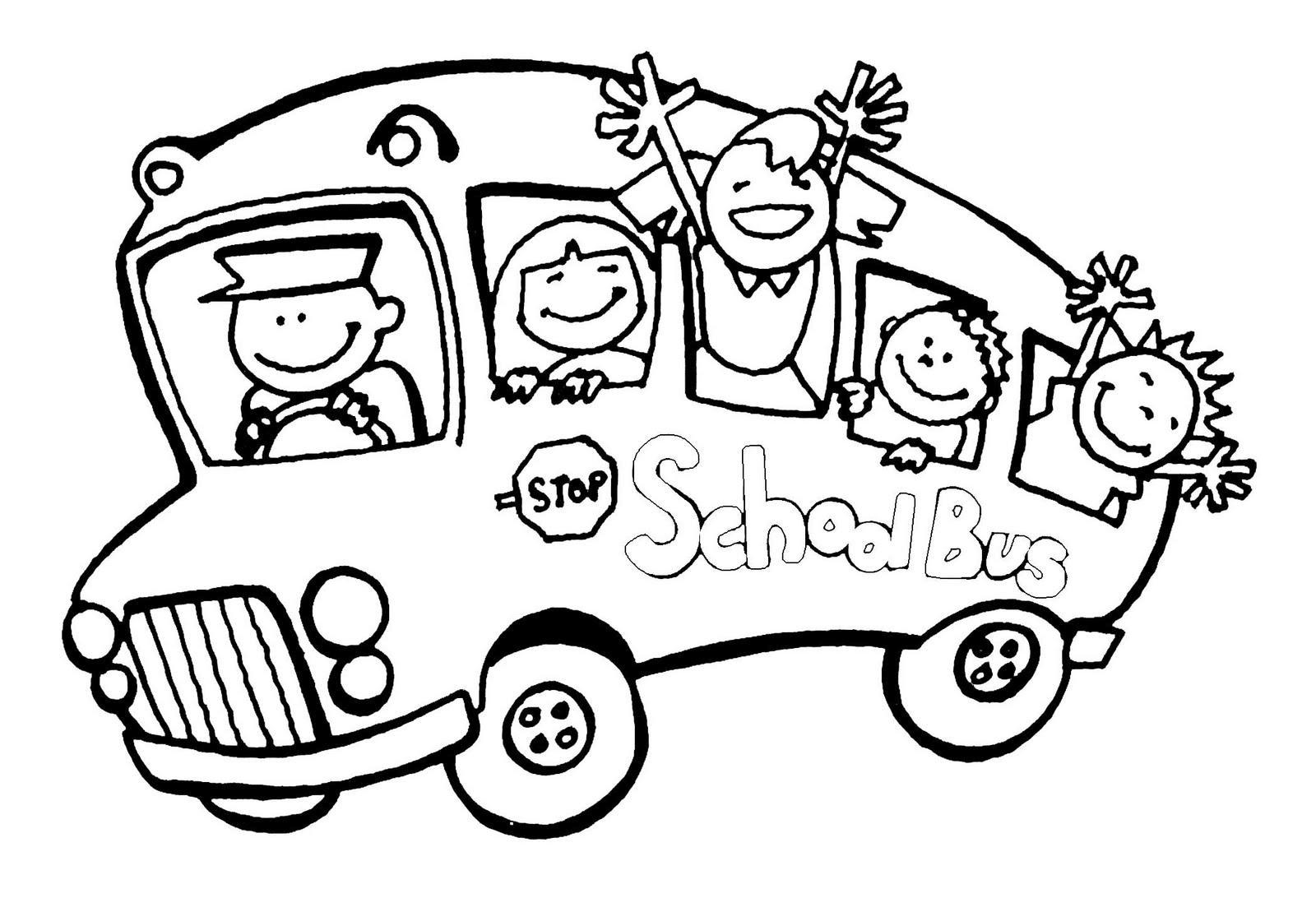 Gambar Mewarnai Bus Sekolah 9