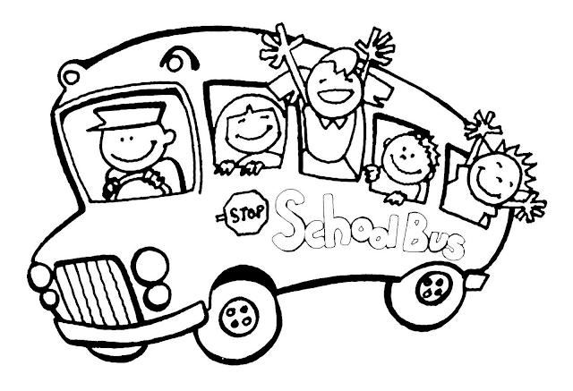 Gambar Mewarnai Bus Sekolah - 9