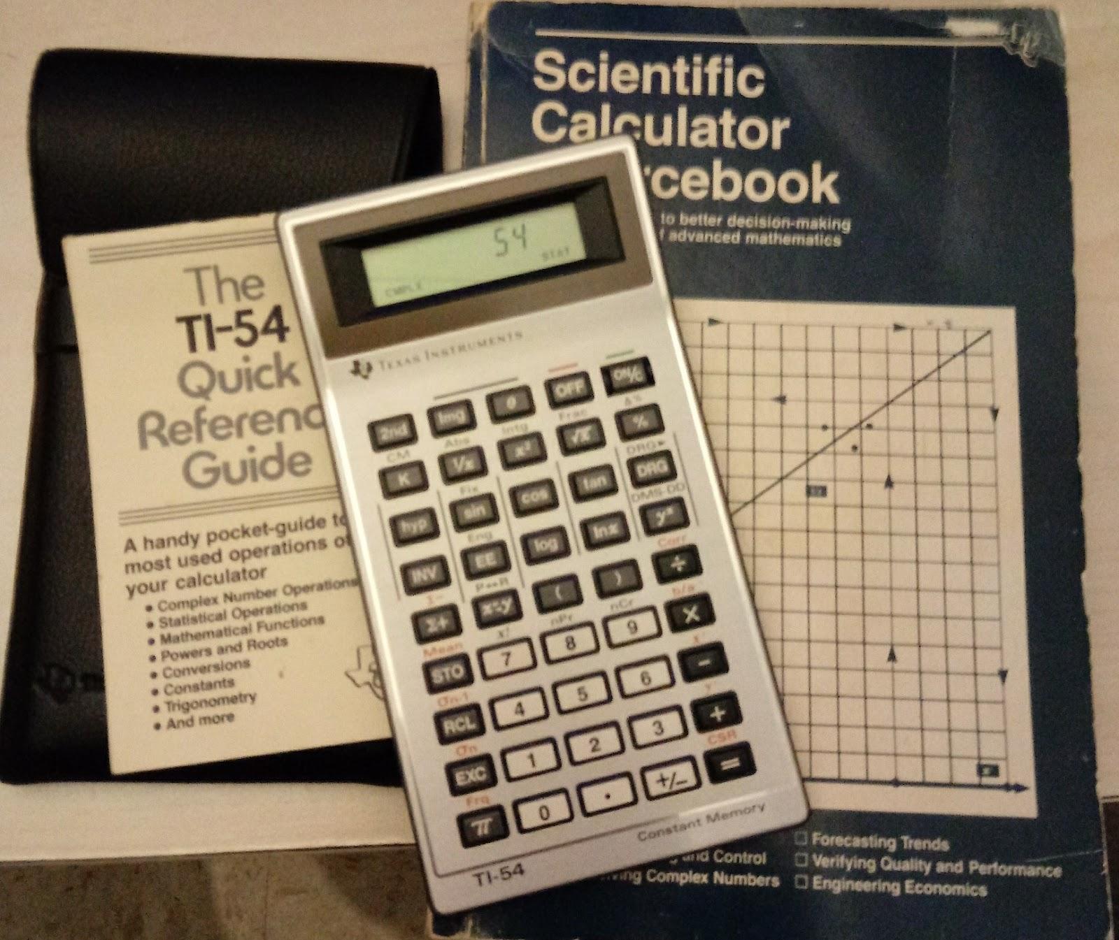 eddie s math and calculator blog retro review texas instruments ti 54 rh edspi31415 blogspot com Function Operation Calculator Calculator Operations Name