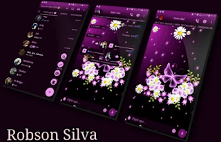 Purple Glow Theme For GBWhatsApp By Robson