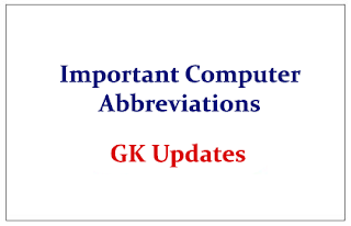 Important Computer Abbreviations for SSC/FCI
