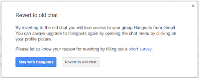 Revert Back To Google Talk From Google Hangouts