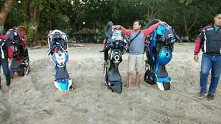 Klub Motor Bikin Aksi Pendam Separo Motor Di Pasir Pantai Tuai Nyinyiran...