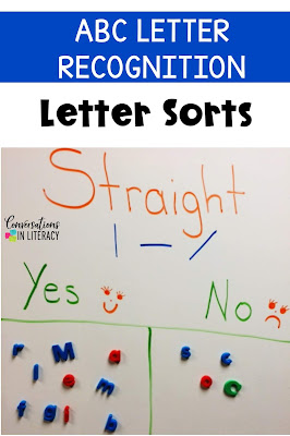 Letter Sorts for Letter Recognition and Letter Identification Activities