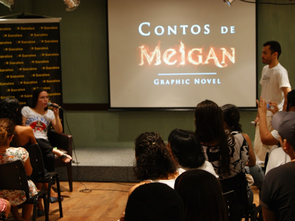 Fotos do evento de Contos de Meigan no MuiraquiCon e novidades!