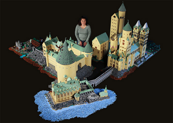 Castillo de Harry Potter hecho con lego