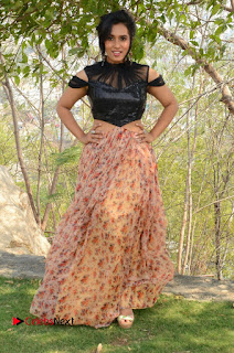 Actress Chetana Uttej Stills in Floral Long Skirt at Pichiga Nachav Movie Press Meet  0111.JPG