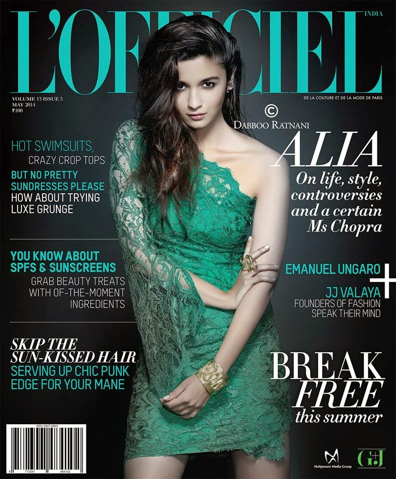 Stunning Alia Bhatt For L'Officiel India Coverpage