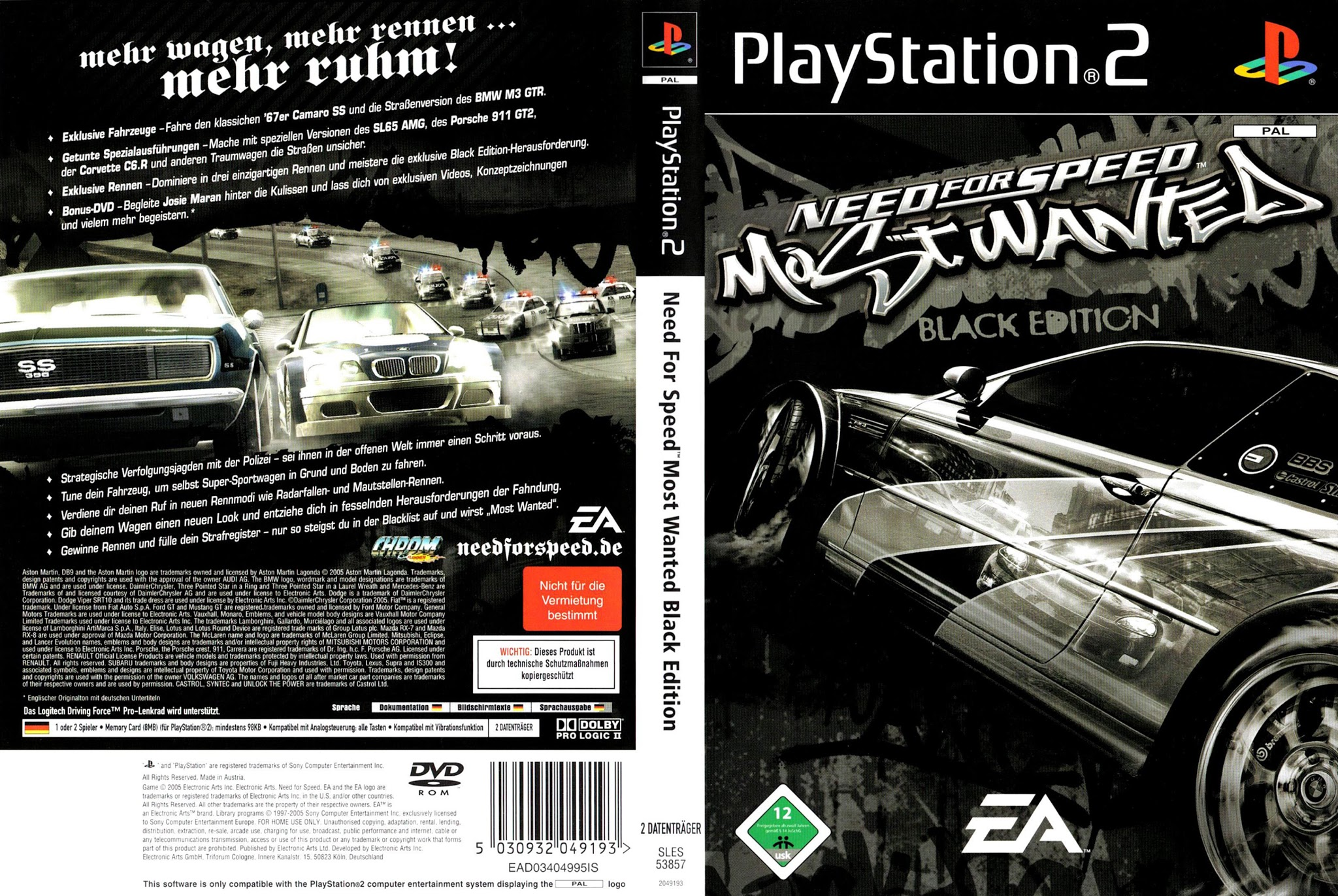 B And D Auto >> Need For Speed Most Wanted Black Edition - Playstation 2 ...