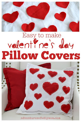Easy to Make Valentine's Day Throw Pillow Covers