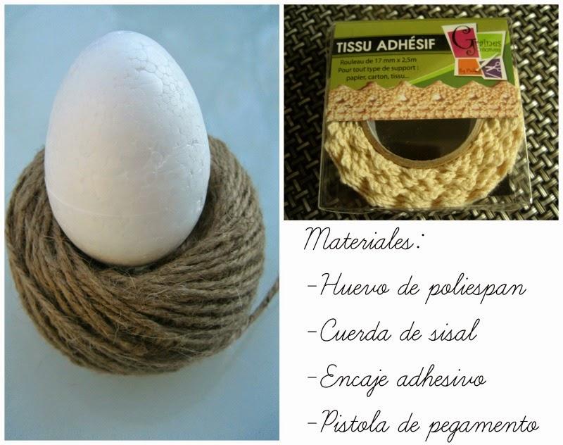 materiales para decorar huevo de Pascua