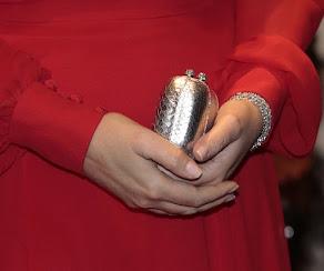 Princess Mette-Marit style Bottega Vaneta Clutc bag