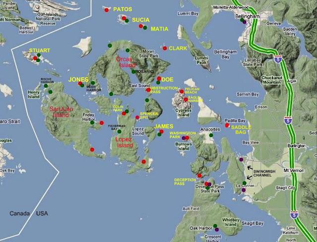 San Juan Island's map