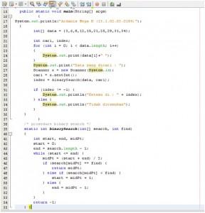 Tutorial Pencarian Data Menggunakan Binnary Search Java