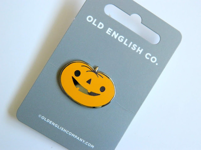 Old English Company- Pumpkin Enamel Pin