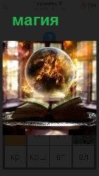 шар над книгой магия