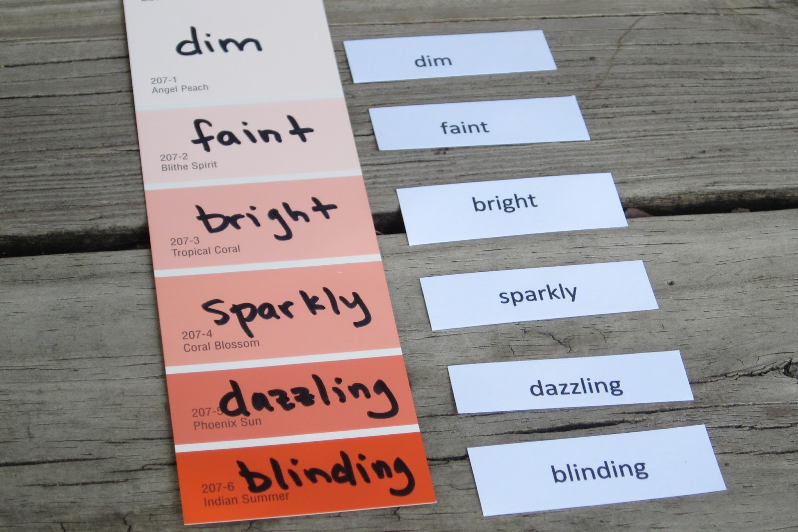Classroom Freebies Too Shades Of Meaning Vocabulary Activity
