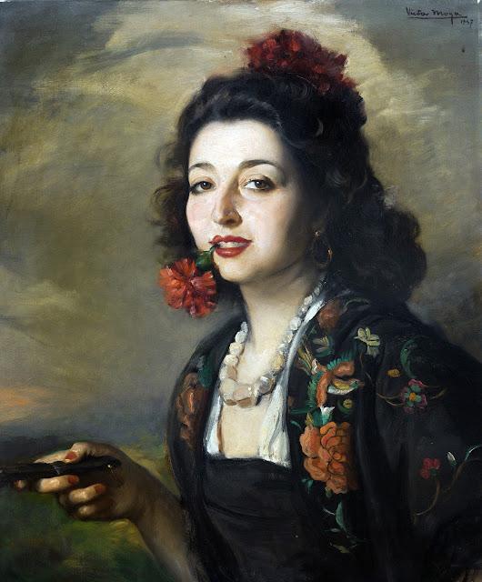 Carmencita de Triana, Victor Moya Calvo, Pintor español, Pintores Valencianos, Retratos de Victor Moya Calvo, Pintores españoles