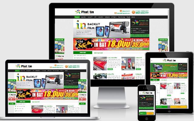 Theme wordpress làm website cho công ty in cực đẹp