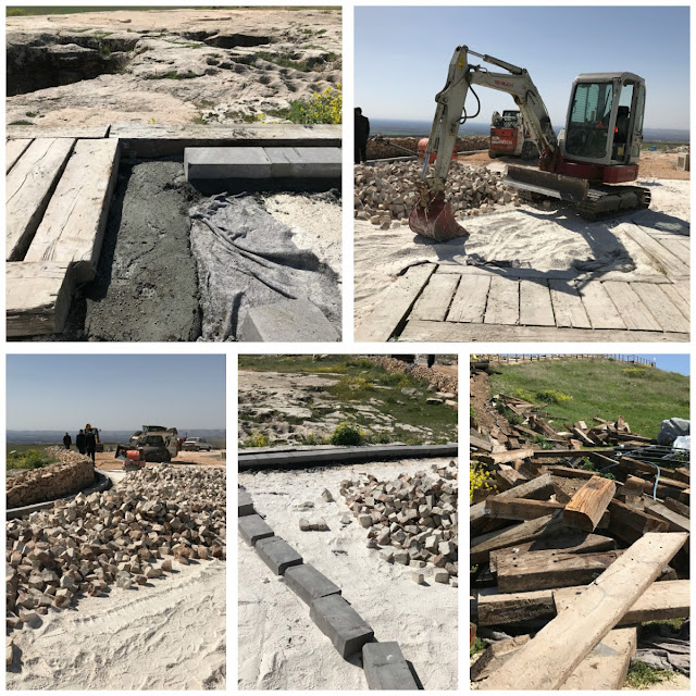 Concrete poured on world's oldest temple Göbeklitepe