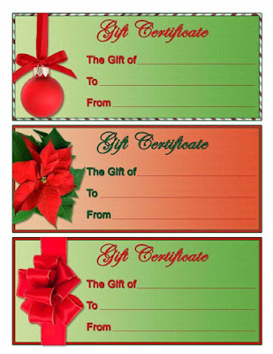 Christmas Gift Certificate Free Printable Templates Ghaww