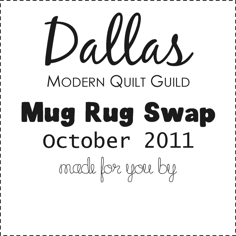 Dallas Modern Quilt Guild: October Mug Rug Swap