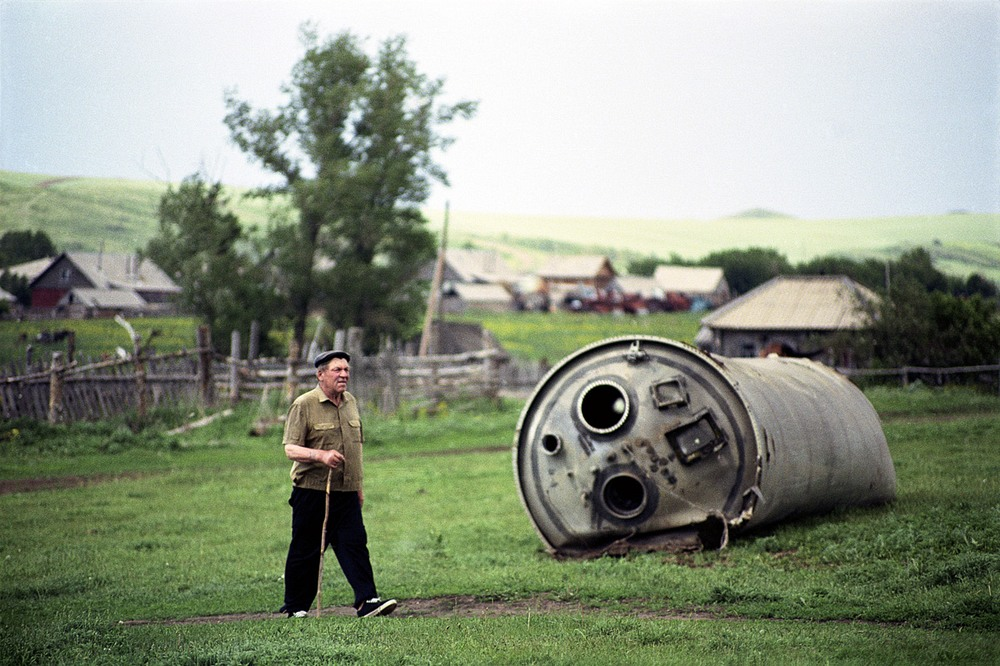 space junk in altai mountains