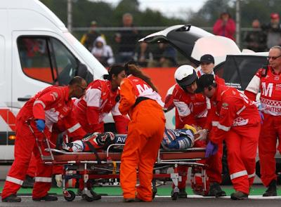 Video Detik-detik Kecelakaan Fatal Baz vs Pol di GP Inggris