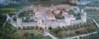 Vista aérea de Monteriggioni.