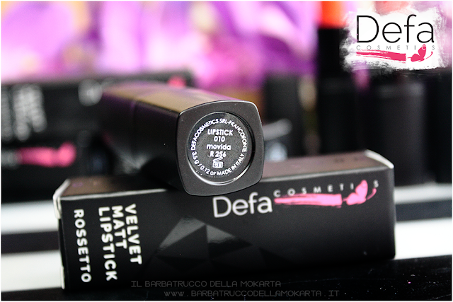 movida packaging  Defa cosmetics lipstick