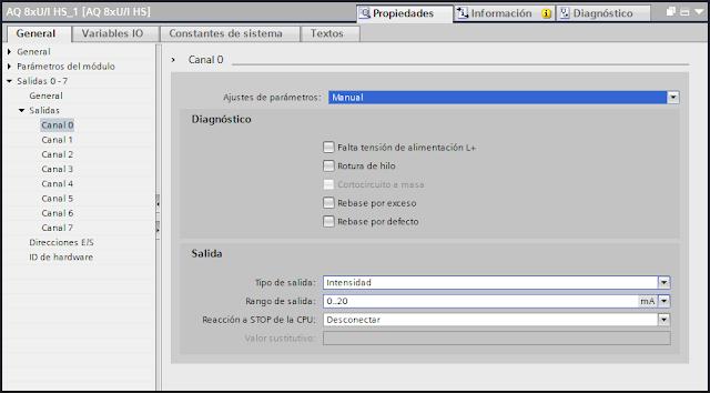Configurar una salida analógica TIA Portal V14