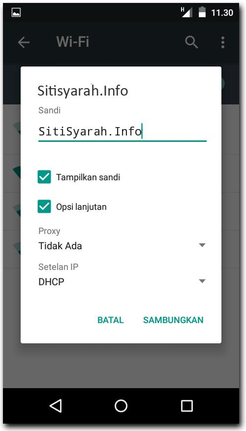solusi hp android error tidak konek wifi